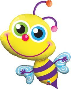 Beaming Bee SuperShape - Uptown Parties & Balloons