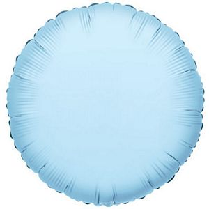 "18"" Pastel Blue Foil Round - Uptown Parties & Balloons"