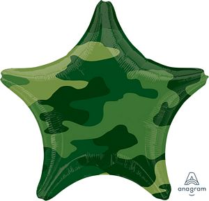 Camouflage Star - Uptown Parties & Balloons