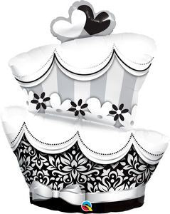 Fun & Fabulous Wedding Cake SuperShape - Uptown Parties & Balloons