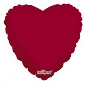 "18"" Metallic Burgundy Foil Heart"