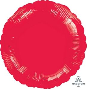 "18"" Metallic Red Round - Uptown Parties & Balloons"