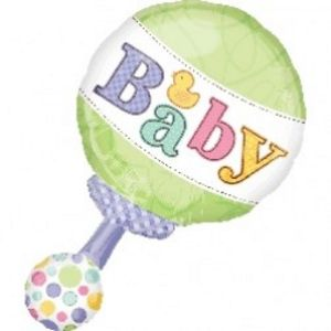 Baby Rattle SuperShape - Uptown Parties & Balloons