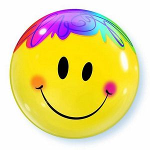 Bright Smiley Face Bubble - Uptown Parties & Balloons