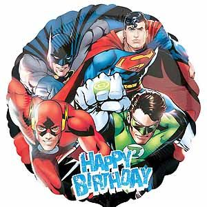 Justice League Happy Birthday - Uptown Parties & Balloons