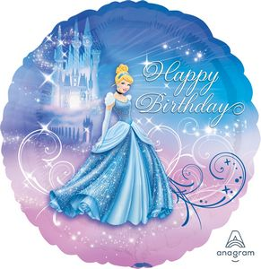 Cinderella Happy Birthday - Uptown Parties & Balloons