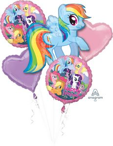 My Little Pony Foil Balloon Bouquet - Uptown Parties & Balloons