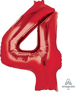 SuperShape 4 Red - Uptown Parties & Balloons