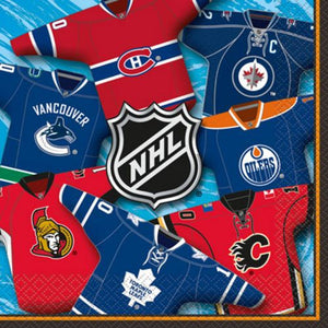 NHL Lunch Napkin - Uptown Parties & Balloons