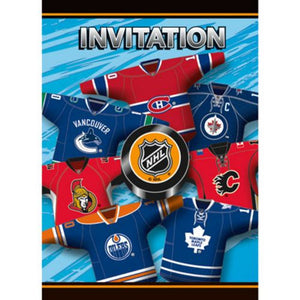 NHL Invitations - Uptown Parties & Balloons