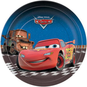 "Cars 7"" Plates - Uptown Parties & Balloons"