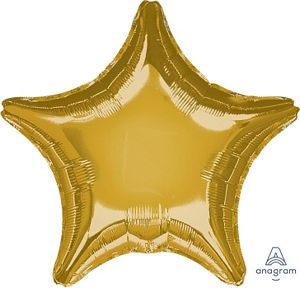 "36"" Metallic Gold Star - Uptown Parties & Balloons"