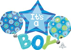 It's A Boy Multi-Balloon - Uptown Parties & Balloons