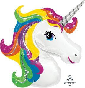 Rainbow Unicorn SuperShape - Uptown Parties & Balloons
