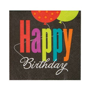 Birthday Cheer Beverage Napkins - Uptown Parties & Balloons