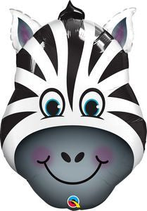 Zany Zebra SuperShape - Uptown Parties & Balloons