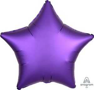 "18"" Satin Luxe Purple Royale Foil Star - Uptown Parties & Balloons"