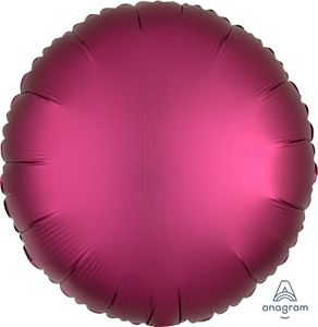 "18"" Satin Luxe Pomegranate Foil Round - Uptown Parties & Balloons"