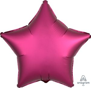 "18"" Satin Luxe Pomegranate Foil Star - Uptown Parties & Balloons"