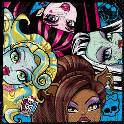 Monster High Lunch Napkins - Uptown Parties & Balloons