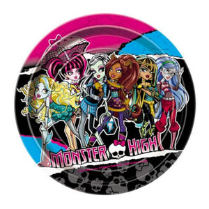 "Monster High 7"" Plate - Uptown Parties & Balloons"