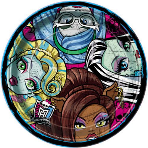 "Monster High 9"" Plates - Uptown Parties & Balloons"
