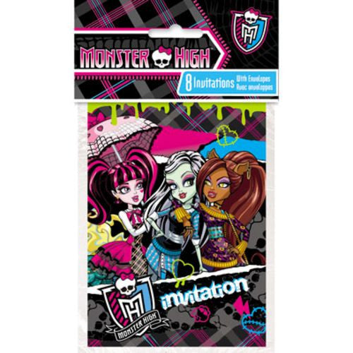 Monster High Invitations - Uptown Parties & Balloons