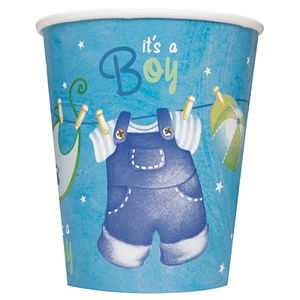Blue Clothesline 9oz Cups - Uptown Parties & Balloons
