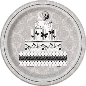"Victorian Wedding 9"" Plates - Uptown Parties & Balloons"