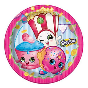 "Shopkins 7"" Plate - Uptown Parties & Balloons"