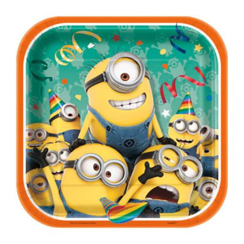 "Despicable Me 7"" Plate - Uptown Parties & Balloons"