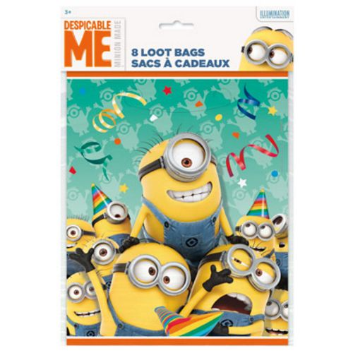 Despicable Me Loot Bags - Uptown Parties & Balloons