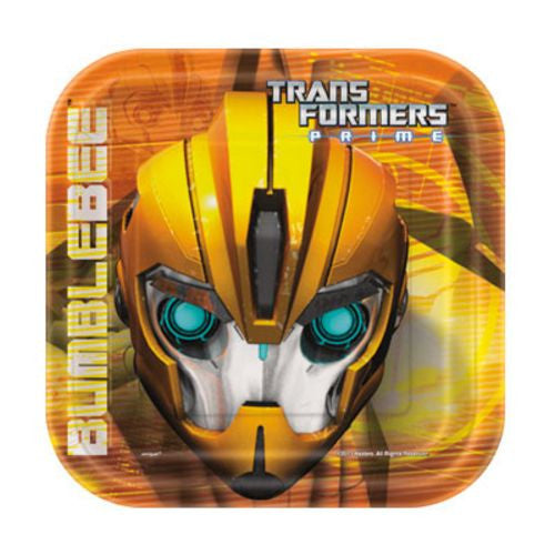 "Transformers 7"" Plates - Uptown Parties & Balloons"
