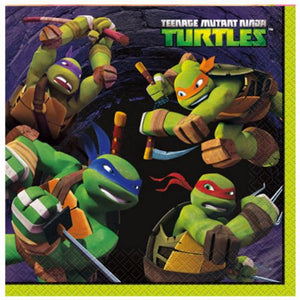 Teenage Mutant Ninja Turtles Lunch Napkins - Uptown Parties & Balloons