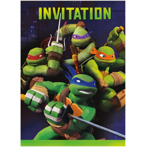 Teenage Mutant Ninja Turtles Invitations - Uptown Parties & Balloons