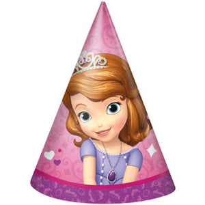 Sofia The First Party Hats - Uptown Parties & Balloons
