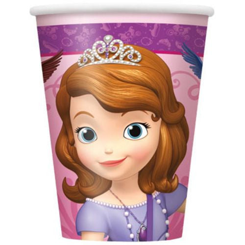Sofia The First 9oz Cups - Uptown Parties & Balloons