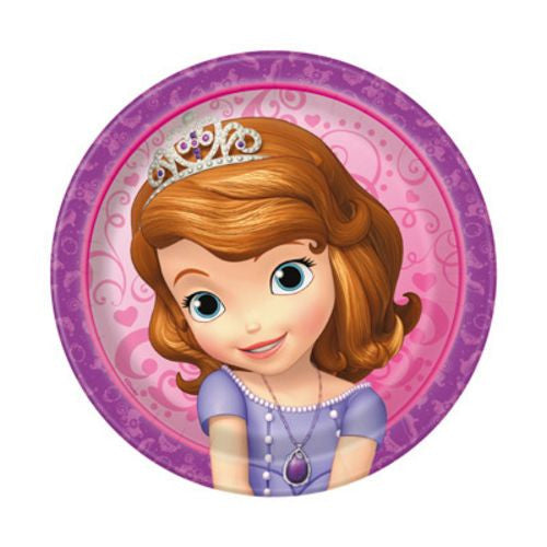 "Sofia The First 7"" Plates - Uptown Parties & Balloons"