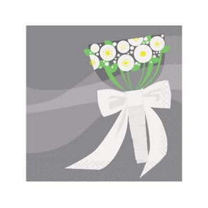 Silver Wedding Beverage Napkins - Uptown Parties & Balloons