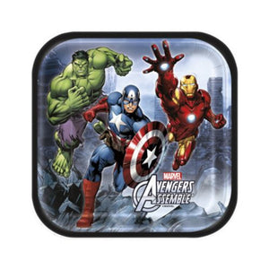 "Avengers 7"" Plates - Uptown Parties & Balloons"