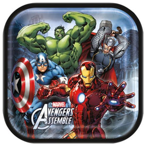 "Avengers 9"" Plates - Uptown Parties & Balloons"