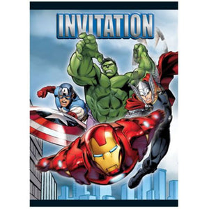 Invitations Avengers - Uptown Parties & Balloons