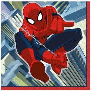 Spiderman Lunch Napkins - Uptown Parties & Balloons