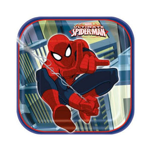 "Spiderman 7"" Plates - Uptown Parties & Balloons"