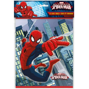 Spiderman Loot Bags - Uptown Parties & Balloons