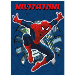 Spiderman Invitations - Uptown Parties & Balloons