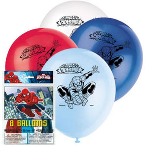 Spiderman Latex Balloons - Uptown Parties & Balloons