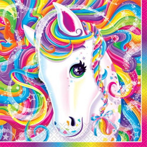 Rainbow Majesty Lunch Napkins - Uptown Parties & Balloons