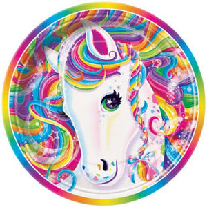 "Rainbow Majesty 7"" Plates - Uptown Parties & Balloons"