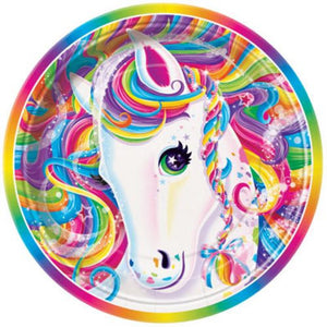 "Rainbow Majesty 9"" Plates - Uptown Parties & Balloons"